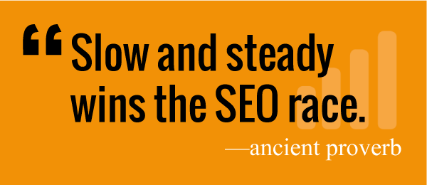 Slow and steady wins the SEO race