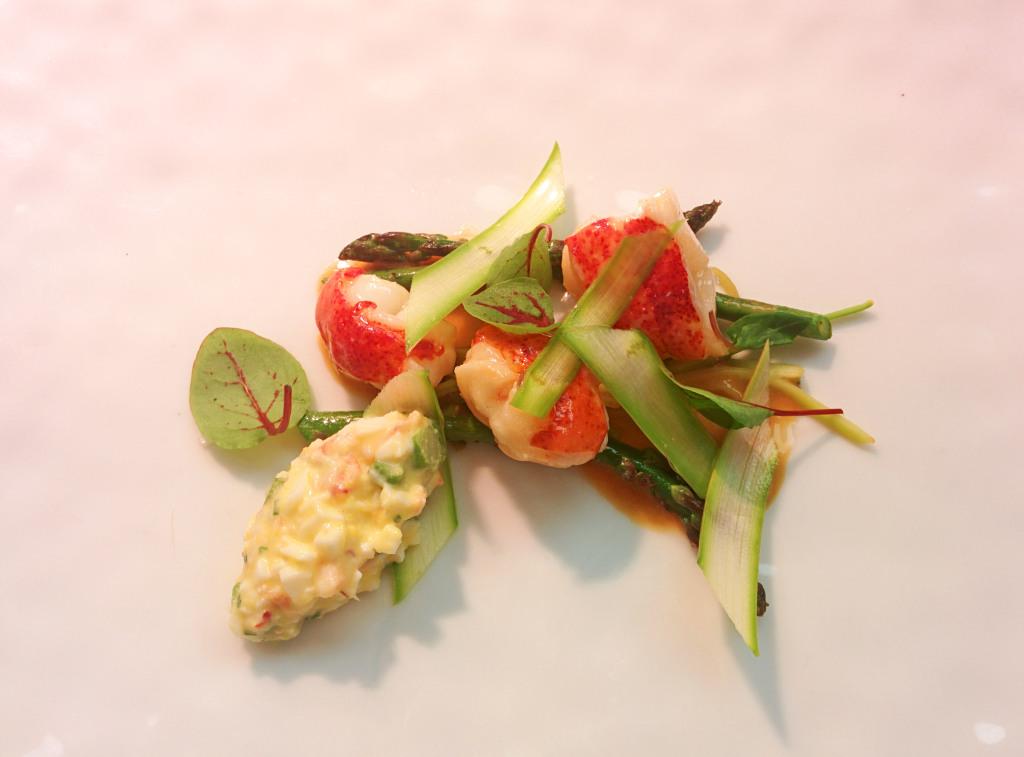 Gramercy Tavern Lobster Salad, Asparagus, Egg, Burdock, Spring Onion