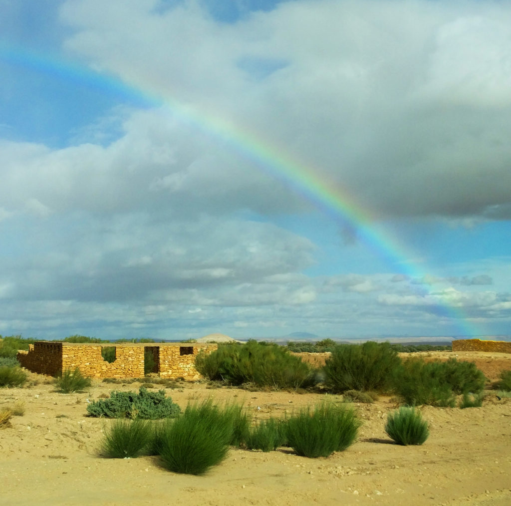 Rainbow over the Moroccan desertRainbow over the Moroccan desert