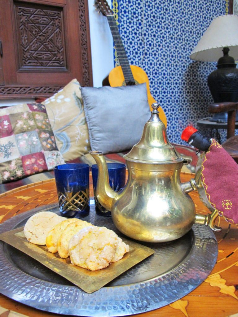 Tea and cookies in Morocco