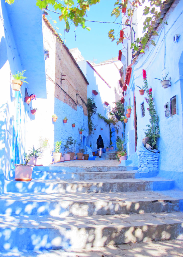 Blue alley in the medina of Chefchaouen