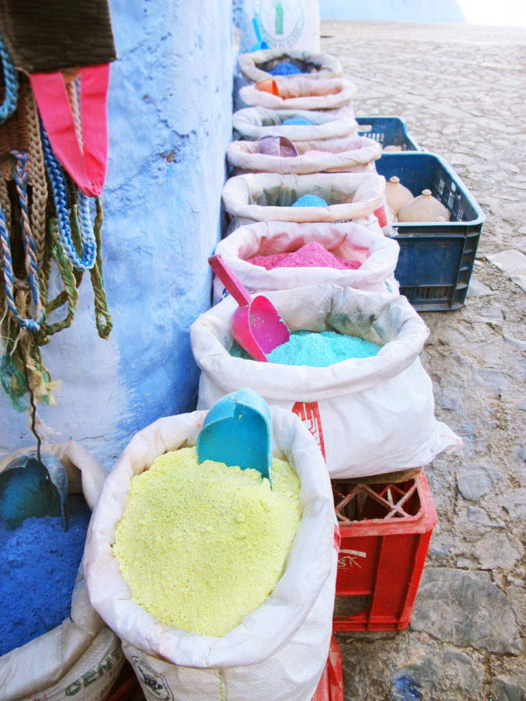 Dyes in Chefchaouen